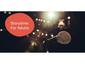 Storytime for adults: The Moth