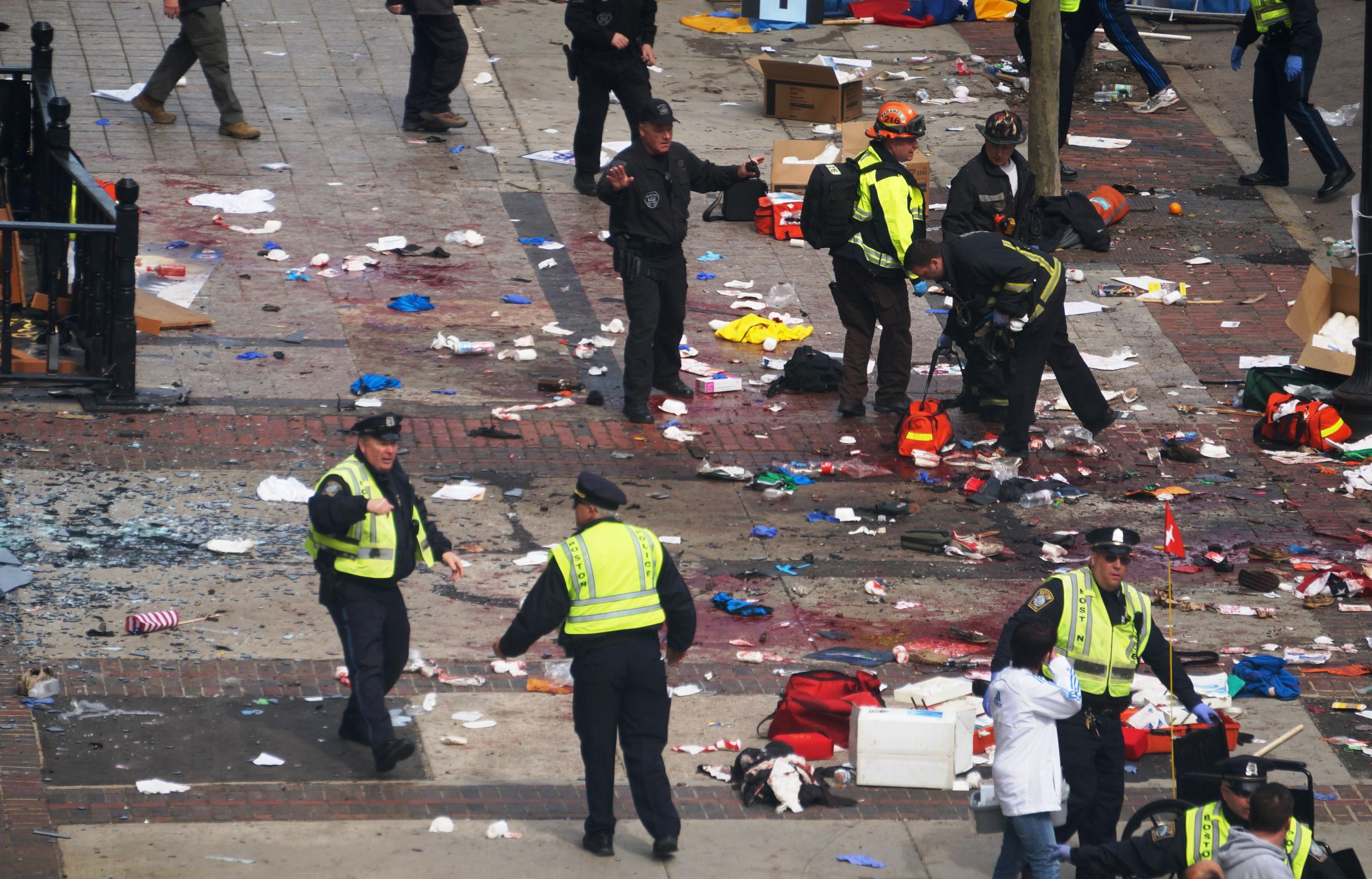 Image of Boston Marathon bomb site