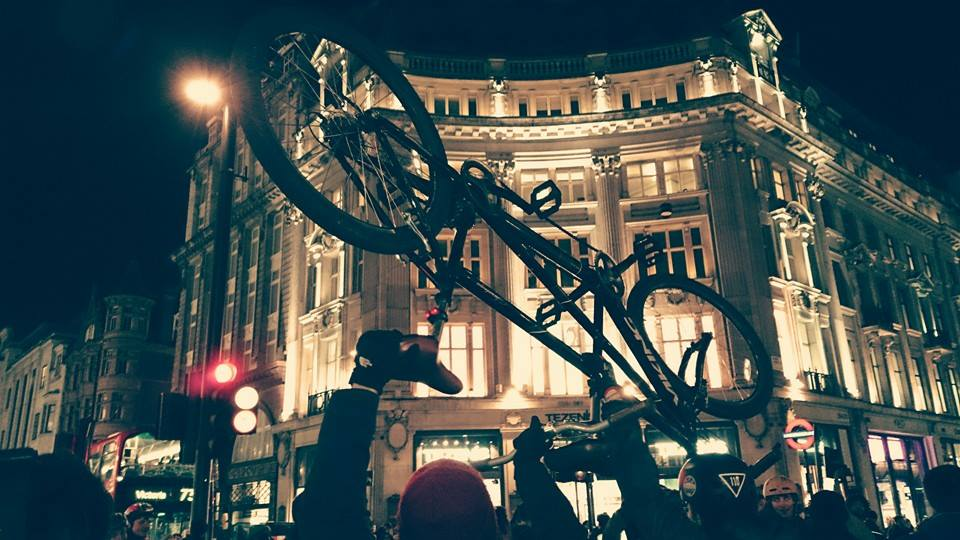 a bicycle from Critical Mass