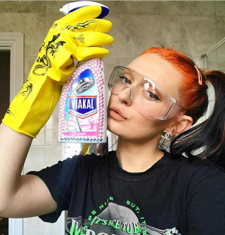 Tori West, Bricks magazine editor and part-time cleaner