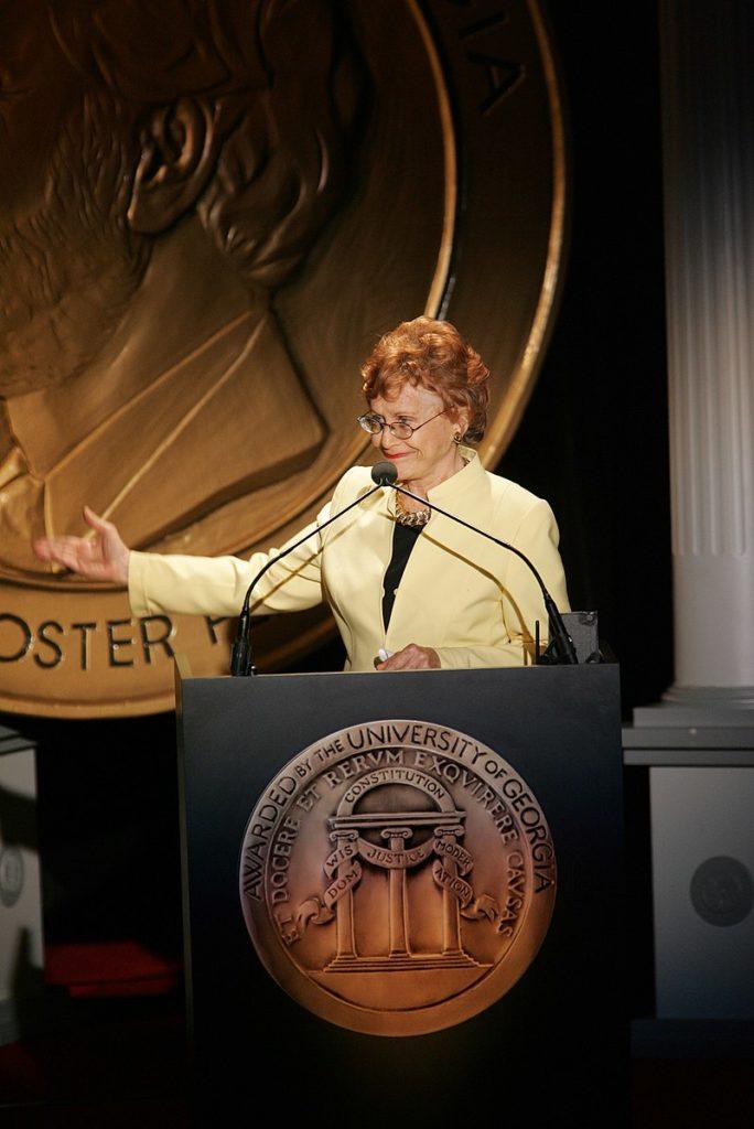 Marlene Sanders at the Peadbody Awards, 2005, Washington DC.