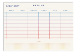 Picture of a weekly diary planner